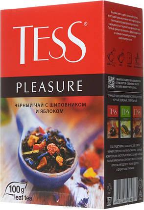 Чай Tess Pleasure чёрный с шиповником и яблоком листовой 90гр., фото 2