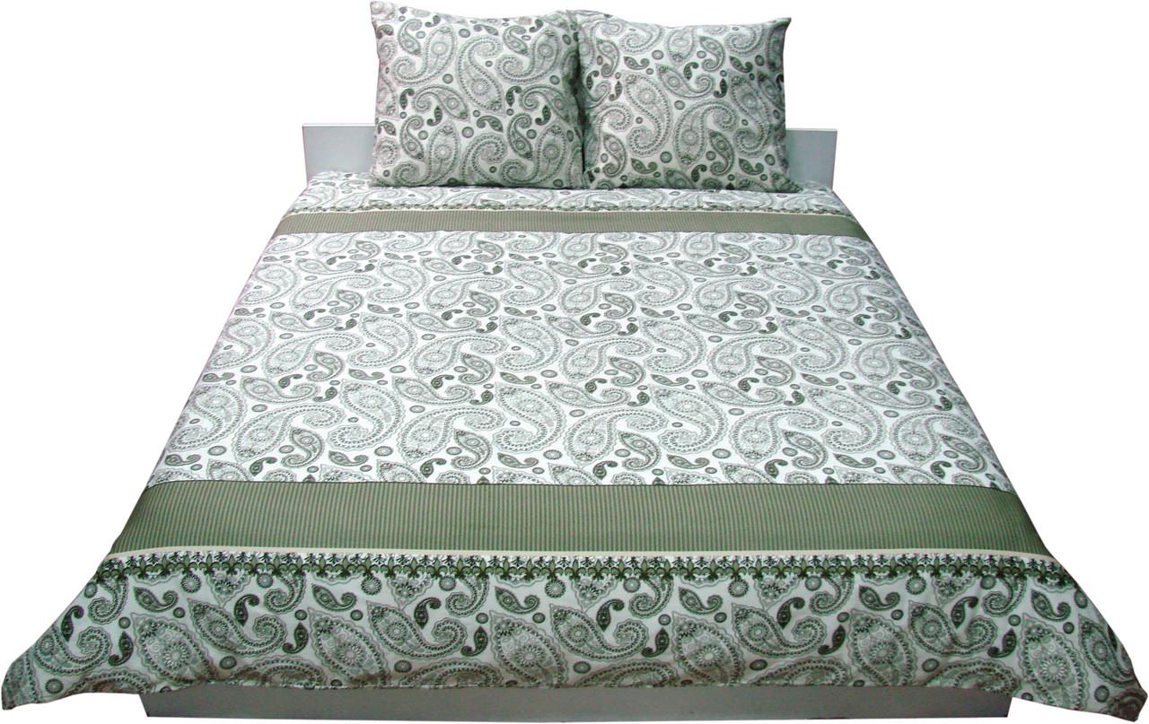 Комплект постельного белья Семейный РУНО 143х215 Сатин (6.137К_40-0377 Green khaki)