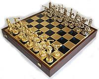 Шахматы Manopoulos Посейдон в деревянном футляре 54х54 см Синие