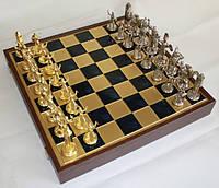 Шахматы Manopoulos Греческая мифология в деревянном футляре 54х54 см Синие