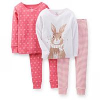Комплект детских пижам для девочки Carters Зайчик