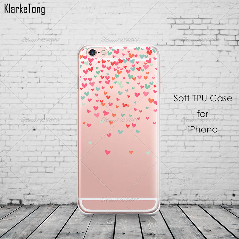Butterfly Love Hearts Clear Soft TPU Case для iPhone 7