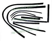 Уплотнитель опускного стекла двери ВАЗ 2121 (к-кт 10 шт)
