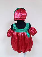Прокат карнавальный костюм Помидор для девочки, р.104-110
