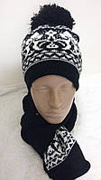 """Женский комплект шапка-шарф """"Карли"""""""