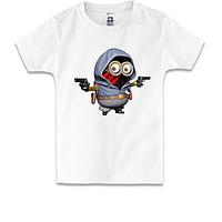 Детская футболка Миньон - гангстер