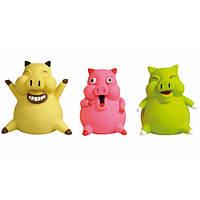 Игрушка наполненная для собак улыбающийся поросенок из латекса pig smile Karlie-Flamingo , 8*8*9 см