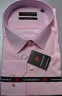 розовая приталенная рубашка GUISEPPE GENTILE (размеры M.L.XL.XXL)