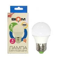 Светодиодная лампа BIOM E27-4W-Шар-Теплый