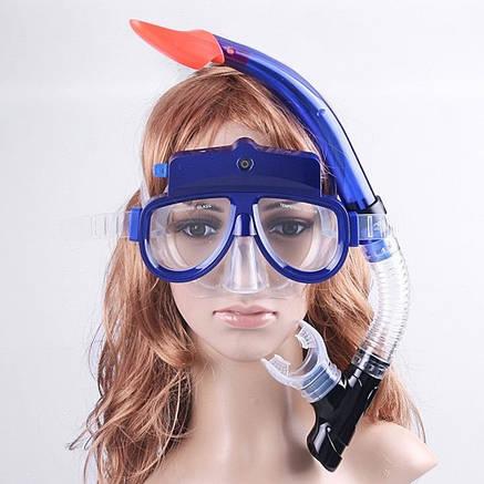 Водолазная маска для подводного плавания, дайвинга с камерой для фото и видео съемки, фото 2