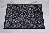 Ковер грязезащитный Снежинки, 90х150см., черный