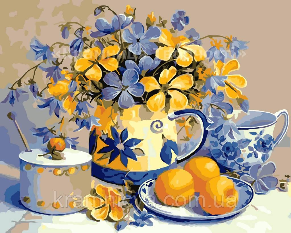 Картина за номерами 'Абрикосовий натюрморт', 40х50см (КНО2031)