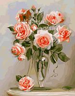 Картина по номерам 'Трепетные розы', 40х50см (КНО2034)