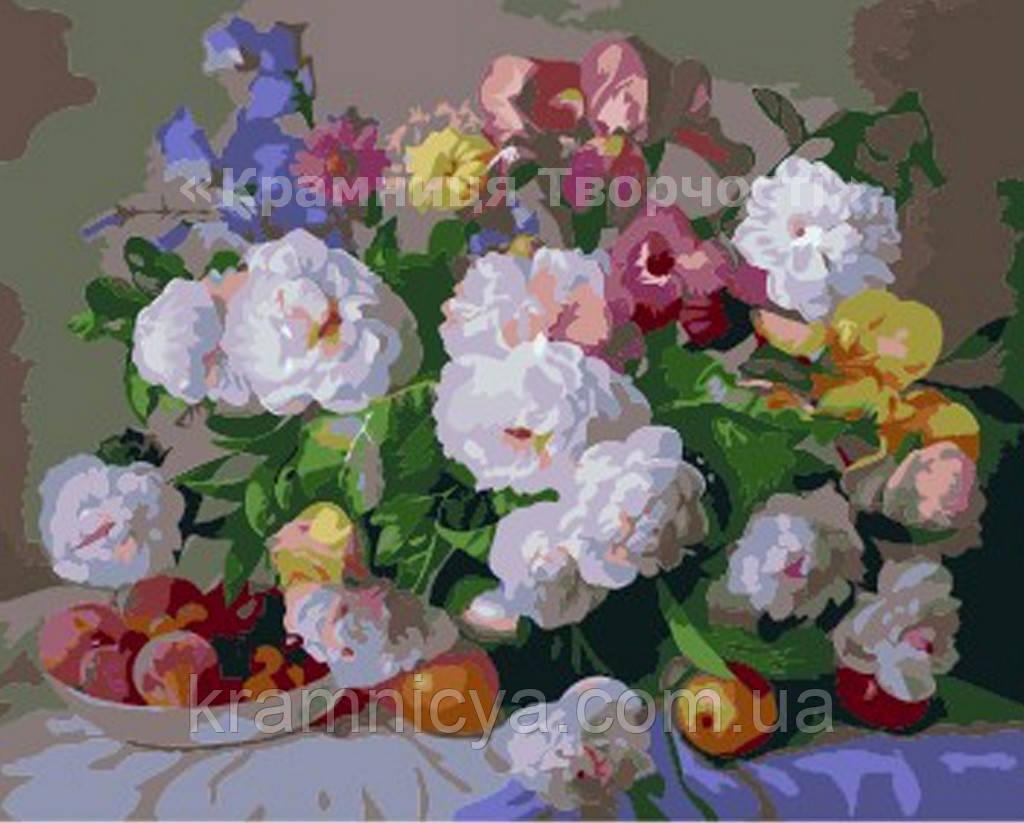Картина по номерам 'Цветы и персики', 40х50см (КНО281)
