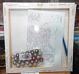 Картина по номерам 'Большой букет в стеклянной вазе-2', 40х50см (КНО1050), фото 6