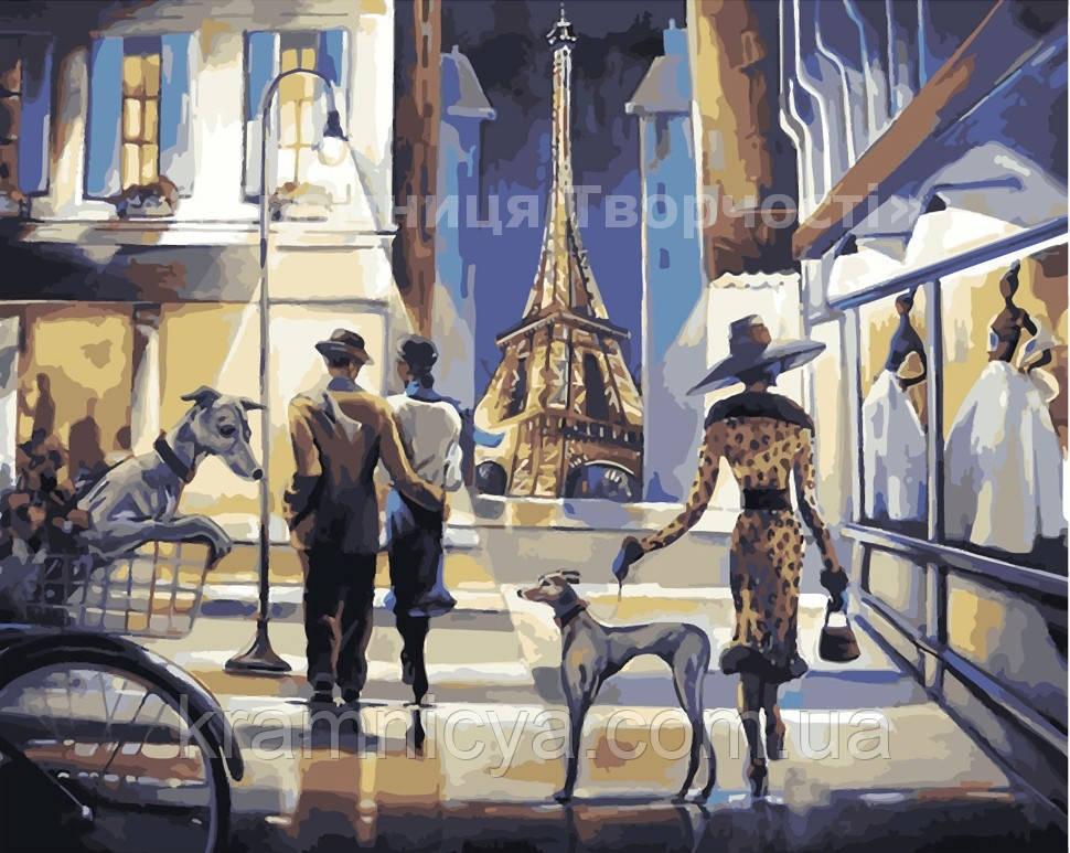 Картина по номерам 'Прогулянка вечернем Парижем', 40х50см (КНО2124)