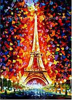 Картина по номерам 'Эйфелева башня в огнях', 40х50см (КНО076)