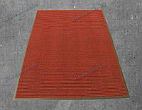 """Грязезащитный ковер 120*200см. на резиновой основе """"Рубчик"""", цвет красный"""
