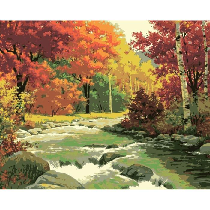 Картина по номерам Золотая осень КНО2125 Идейка
