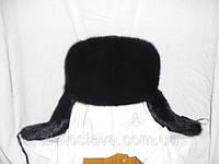 Мужская норковая шапка ушанка - полная
