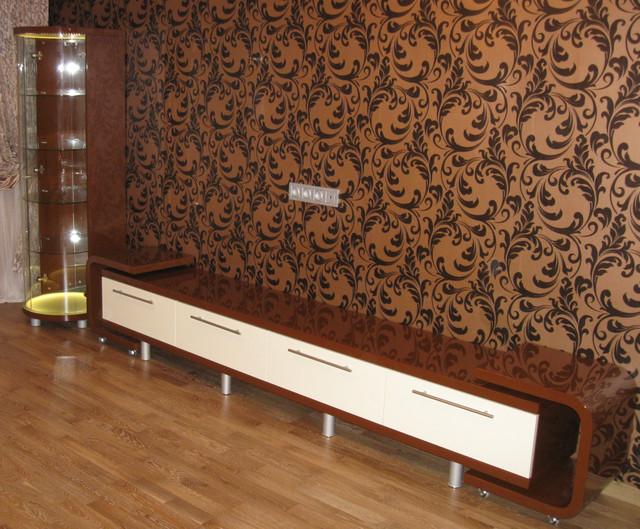 Меблі в вітальню з гнутого МДФ у класичному стилі