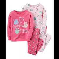 Комплект детских пижам для девочки Carters Время вечеринки