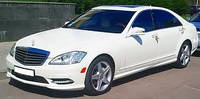 Аренда автомобиля на свадьбу Mercedes W221 S550 white, фото 1