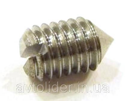 DIN 553 (ISO 7434 ; ГОСТ 1476-93) : нержавеющий винт установочный с острым концом и прямым шлицем
