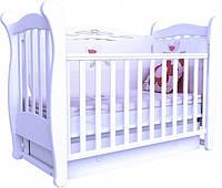 Детская кровать Верес Соня ЛД 15 ящик маятник (белая ,слон кость, орех,ольха ,бук)