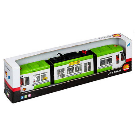 """Городской трамвай """"City Tram"""", 46 см (зелёный) «Big Motors» (1258), фото 2"""