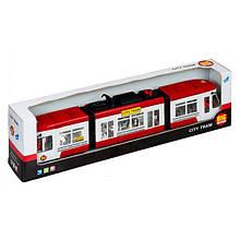 """Игрушечные машинки и техника «Big Motors» (1258) городской трамвай """"City Tram"""", 46 см (красный)"""