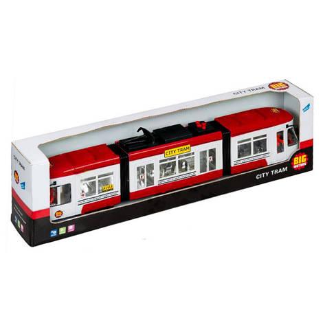 """Городской трамвай """"City Tram"""", 46 см (красный) «Big Motors» (1258), фото 2"""