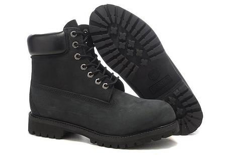 Timberland женские ботинки черные топ реплика, фото 2