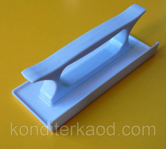 Утюжок прямоугольный с бортом для мастики, теста, марципана, полимерной глины