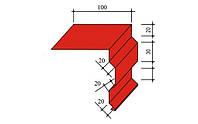 Ветровая планка (торцевая, фронтонная) цветная 0,3 мм