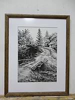 """Картина """"Мостик в лесу"""""""
