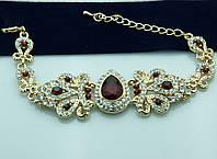 Видный браслет с алыми камнями. Королевские украшения оптом в Украине. 942