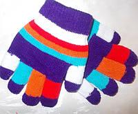Перчатки двойные толстые детские от 2 лет