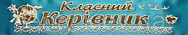 Класний керівник - стрічка атлас, глітер, обводка (укр.мова) Голубой, Золотистый, Белый, Украинский