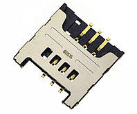 Коннектор Sim-карты Samsung C3520/E1180/E1200/E1280/S6102/S6802 оригинал