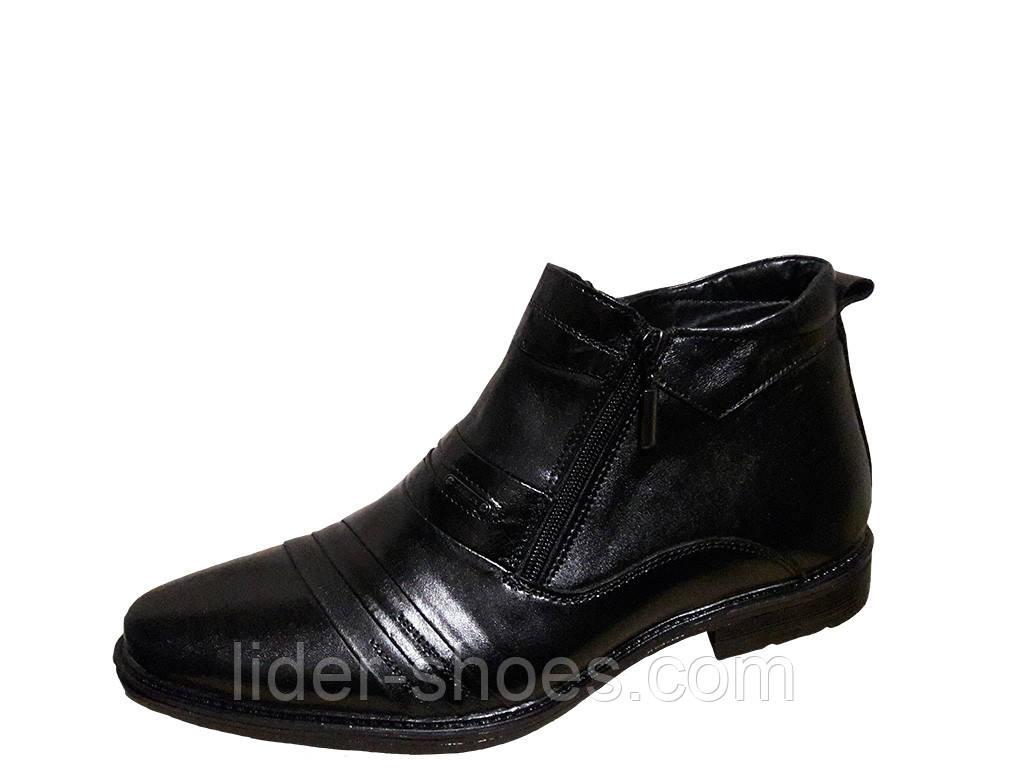 Мужские классические ботинки чёрного цвета