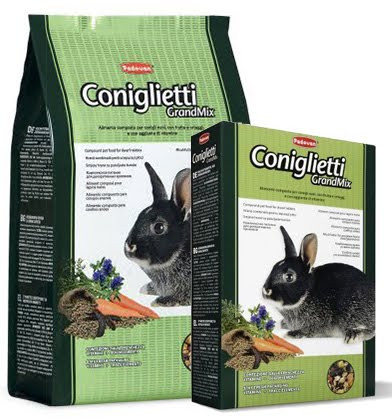 Padovan GRANDMIX CONIGLIETTI Комплексний збалансований основний корм для кроликів 3кг