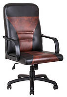 Кресло Сиеста пластик Скаден черный-Скаден коричневый пятнистый (Richman ТМ)