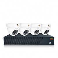 Комплект внутреннего применения AHD видеонаблюдения на 4 камеры Indoor Kit 1MP 4xAHD