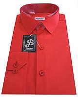 Рубашка мужская красная №10-12-  506/19-1763