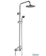 Душевая система DS0004 Gray GLOBUS Lux с верхним душем