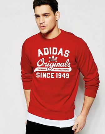 Спортивная кофта Adidas\Адидас Ориджиналс, красная, Л39, фото 2