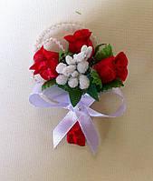 Бутоньерка на свадьбу №9