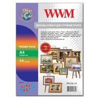 Образцы фотобумаги WWM Fine Art матовая, глянцевая 200г/м кв, 190г/м кв , A4 , 14л