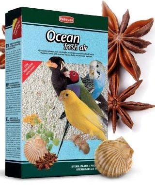 Padovan Ocean fresh air Гигиенический кварцевый наполнитель для птиц с измельченными ракушками 5кг